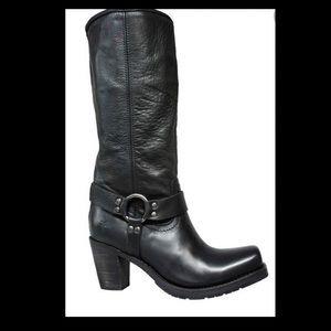 Frye Heath Heel Harness boot - like new